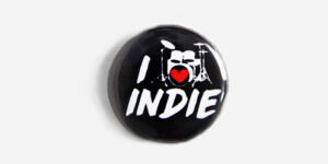 Underground England I heart indie button pin badge