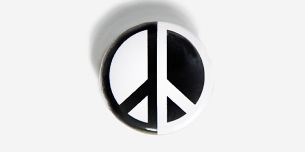 Underground England peace in black and white pin button badge
