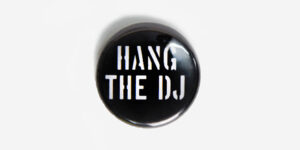 Underground England White and Black Hang The DJ Button badge
