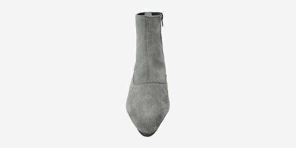 Underground England Marlon Winklepicker grey suede boot with zip for men and women