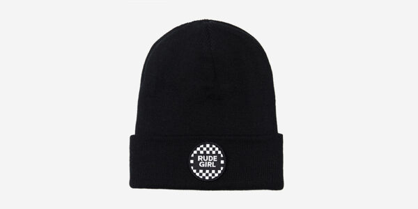 UNDERGROUND ROADHOUSE BLACK BEANIE / RUDE GIRL PATCH FOR MEN AND WOMEN