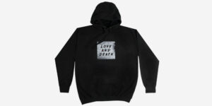 Underground England Love and Death pullover Hoodie in black and white for men and women