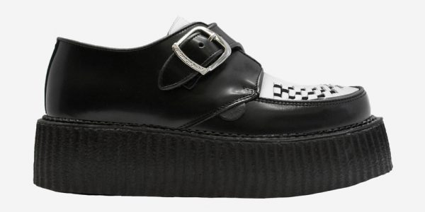 Underground Original King Tut Creeper Black and white leather buckle shoe for men and women