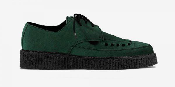 Underground Original Barfly Creeper dark green suede shoe for men and women