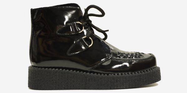 UNDERGROUND ORIGINAL WULFRUN CREEPER BOOT – BLACK PATENT LEATHER – BOOTS FOR MEN AND WOMEN