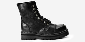 buffed toe steel cap boot