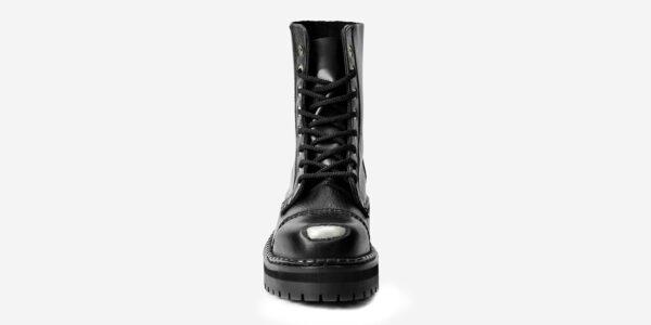 buffed toe steel cap boot