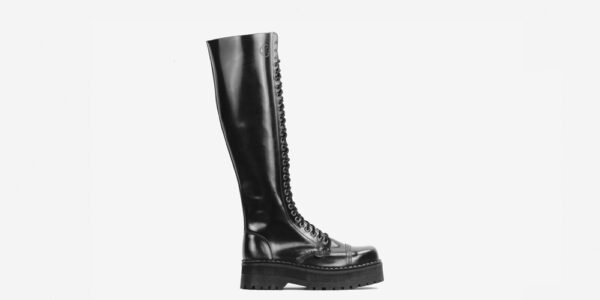 Underground Original Steel Cap Para Black leather knee length combat boot for men and women