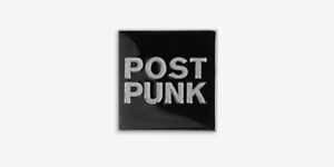 POST PUNK ENAMEL BADGE / METAL PIN BADGE