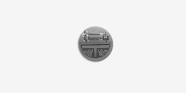 Underground England rude girl black and white checked enamel badge metal pin