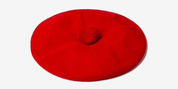 UNDERGROUND MONARCH RED BERET TAM HAT FOR MEN AND WOMEN