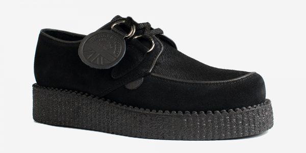 Underground Original Wulfrun Creeper black suede and black pony hair shoe for men and women