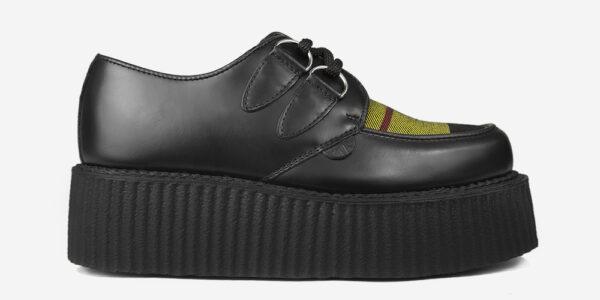Underground Original Wulfrun Creeper black leather and Macleod of Lewis Tartan shoe for men and women