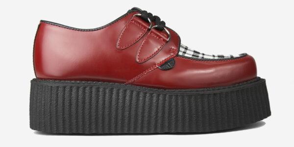 Underground Original Wulfrun Creeper red leather and Menzies Tartan shoe for men and women