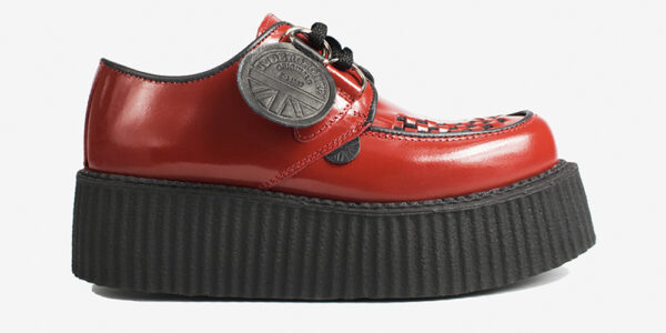 Underground Original Wulfrun Creeper red patent leather shoe for men and women