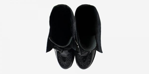 Underground Original Wulfrun Creeper black patent leather calf length boot for men and women