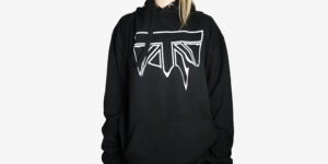 Underground England Half moon drip black and white hoodie for men and women