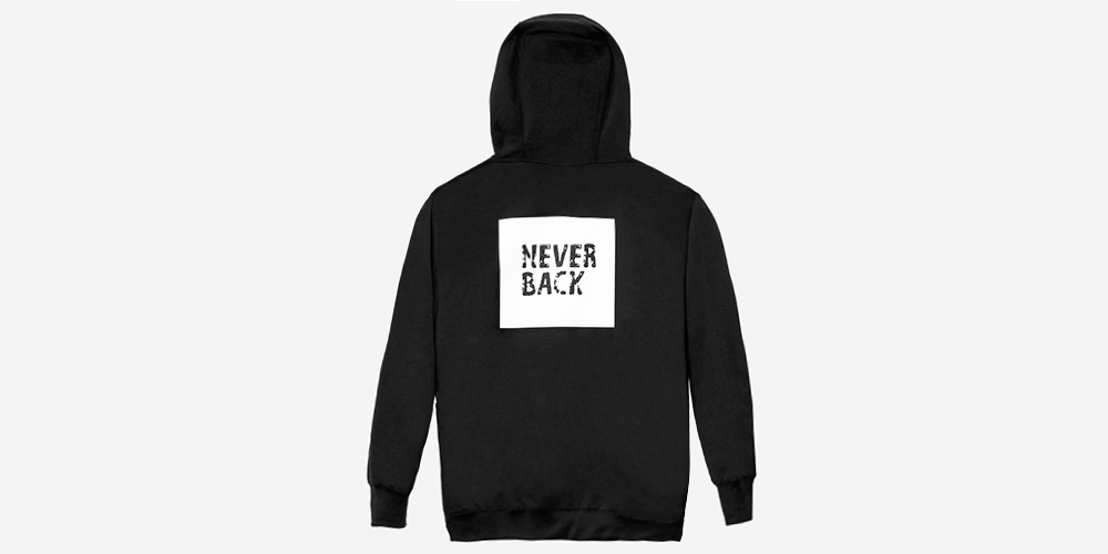 ALWAYS FORWARD NEVER BACK HOODY