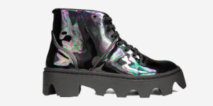 UNDERGROUND DOGSTAR – JUNGLE BOOT – PETROL PATENT SHOES FOR MEN AND WOMEN