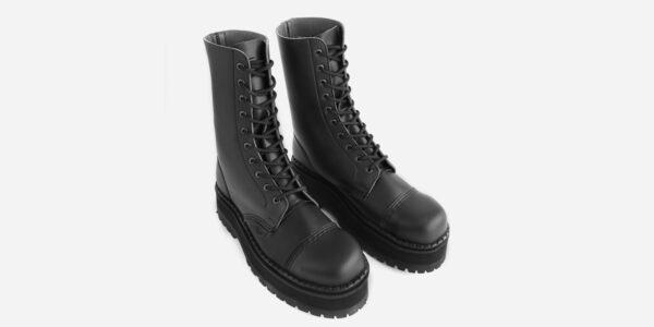 Underground Original Steel Cap Commando Black vegan friendly leather combat boot for men and women