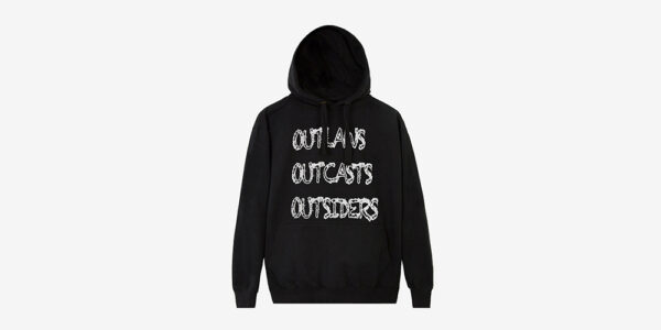 Underground England Pull Over Hoodie Outlaws Outcasts outsiders pull over Hoodie in black and white for men and women