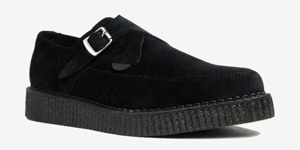 Underground Original Apollo Creeper black velvet buckle shoe for men and women
