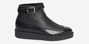 Underground Original Bowie black leather boot with zip for men and women