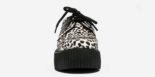 Underground Original Wulfrun Creeper black and white leopard pony hair shoe for men and women