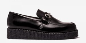 UNDERGROUND SNAFFLE CREEPER LOAFER – BLACK LEATHER – SHOES FOR MEN AND WOMEN