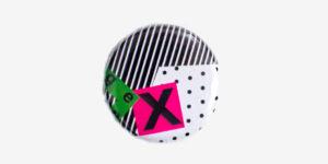 Underground England Gen X button pin badge