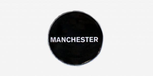 Undergruond England Black Manchester pin button badge