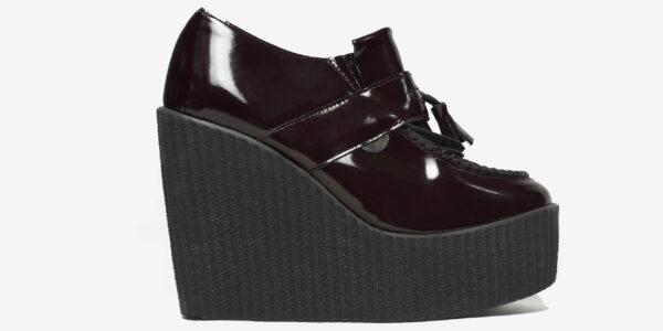 Underground Original Wulfrun Creeper loafer burgundy patent leather wedge for men and women