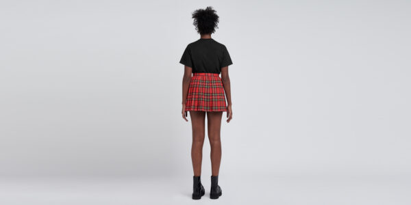Underground England mono pleated mini skirt in royal stewart tartan for men and women