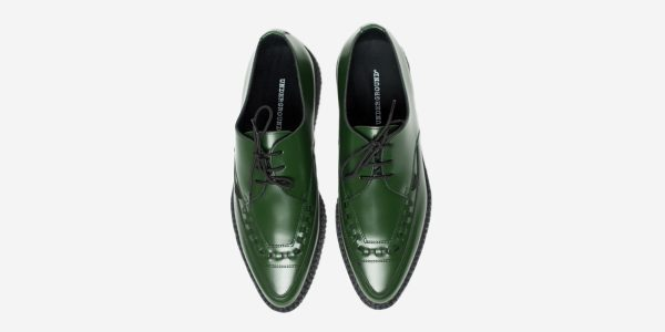 Underground Original Barfly Creeper green leather shoe for men and women