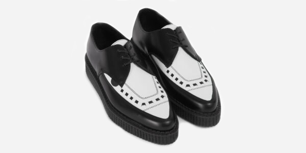 Underground Original Barfly Creeper black and white leather shoe for men and women