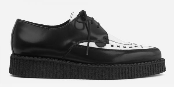 Barfly Creeper - Black & White Leather