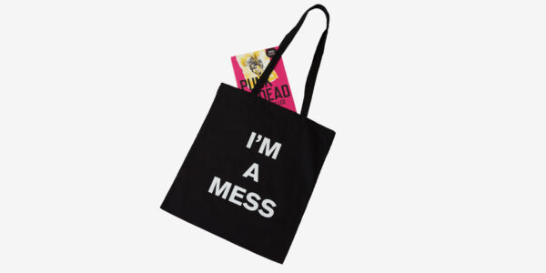 UNDERGROUND ENGLAND BLACK TOTE I'M A MESS FOR MEN AND WOMEN