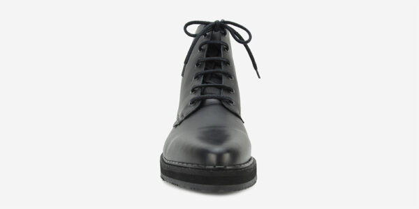 UNDERGROUND METEOR – 6 EYELET ANKLE CHELSEA BOOT – BLACK LEATHER – CUSTOM MADE FOR MEN AND WOMEN