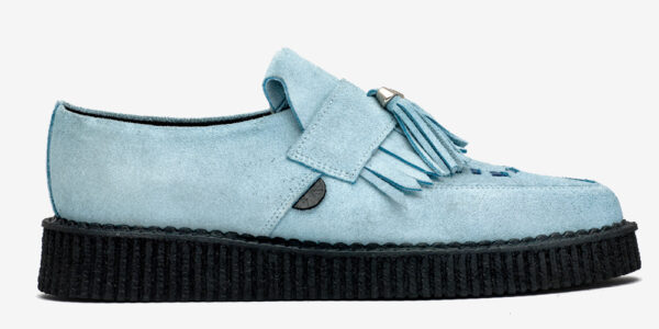 Underground England Creeper suede sky suede loafer with fringe and tassel for men and women