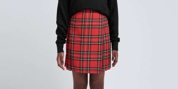 Underground England Authentic tartan royal stewart pleated midi skirt black watch tartan for men and women