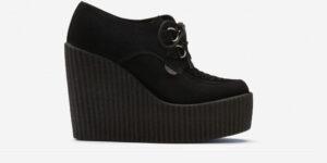 Underground Original Wulfrun Creeper black suede leather wedge for men and women