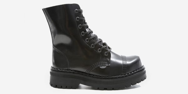 steel cap boot - black leather