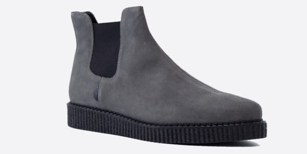 Underground England Meteor creeper grey suede chelsea boot for men and women