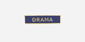 Underground England blue and gold drama enamel metal pin badge