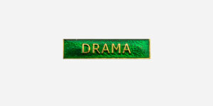Underground England green and gold drama enamel metal pin badge