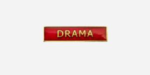 Underground England red and gold drama enamel metal pin badge