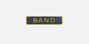Underground England blue and gold band enamel metal pin badge