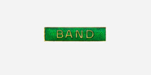 Underground England green and gold band enamel metal pin badge