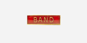 Underground England red and gold band enamel metal pin badge