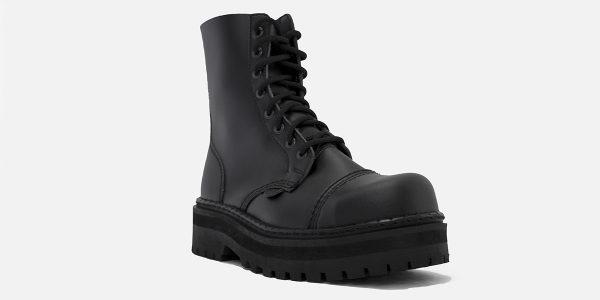 Underground Original Steel Cap Stormer black vegan friendly leather combat boot for men and women